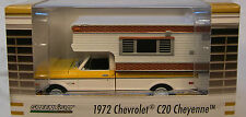 GREENLIGHT 1:64 SCALE DIECAST METAL YELLOW 1972 CHEYENNE C20 TRUCK WITH CAMPER