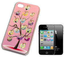 COVER CASE FLIP COMPATIBILE PER IPHONE 4 FACCINE ALBERO MELA 3D LUCIDA ROSA