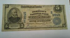 1909 National Currency $5.00 Note (District National Bank Washington)