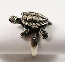 "Vintage Sterling Silver ""Turtle"" Ring Articulated/Moveable 925 Size 5"