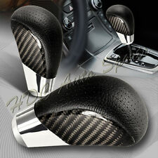 VIP Real Carbon Fiber PVC Leather Manual MT Gear Shift Shifter Knob Universal 1
