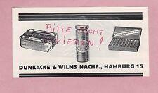 HAMBURG, Werbung 1928, Dunkacke & Wilms Nachf. la Chomtesse Sardellen Sardinen