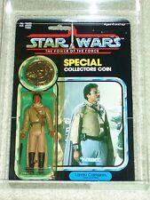 Vintage Star Wars 1985 AFA 80/85/85 LANDO CALRISSIAN GENERAL POTF 92 BACK MOC!!!