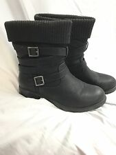 Avenue Montreal Size 11 W Wide Width Wide Calf Black Fashion Boots