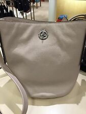 NWT Marc by Marc Jacobs Beige Leather C LOCK Bucket Crossbody Papyrus Hobo Tote