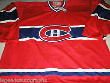 MAURICE HENRI RICHARD JEAN BELIEVAU & WORSLEY 4 Signed Canadiens JERSEY PSA/DNA