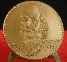 Médaille Jacques Cujas 1522-1588 Caisses des depôts Notariat français  Medal 铜牌.