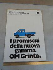 DEPLIANT ORIGINALE OM GRINTA TIPO IVECO FIAT DAILY CAMION PROSPEKT BROCHURE