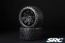 SRC Terrain Crusher [Belted Tires / Wheels] for 17mm Hex  (Pair)