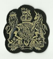 écusson ECUSSON PATCH THERMOCOLLANT BLASON LION LICORNE OR 7 X 6,5 CMS