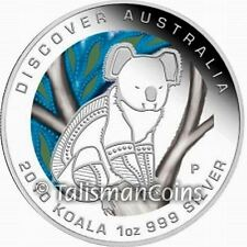 Australia 2010 Discover Australia Dreaming Koala Bear $1 Pure Silver Color Proof