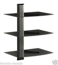 DVD Wall Mount 3 Shelf /TV Game Console Rack Stand with Cable Management System