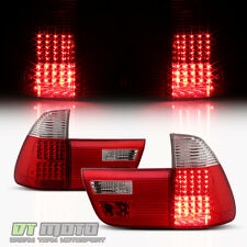 2000-2006 BMW E53 X5 Exotic Red LED Tail Lights Brake Lamps 00-06 Set Left+Right