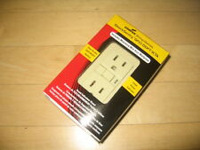 Cooper Wiring Devices 15A 125V Specfication Duplex GFCI Outlet IVORY &Wall Plate