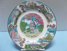 Decorative Souvenir Plate of Washington D.C. by Capsco Products - Made in Japan