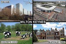 SOUVENIR FRIDGE MAGNET of MILTON KEYNES ENGLAND