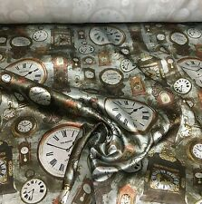 TED BAKER SUPER LUXURIOUS CLOCK PRINT FABRIC 2 METRES