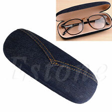 Protable Denim Pouch Sunglasses Hard Eye Glasses Hard Case Eyewear Protector Box