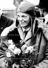 Photo: 5 x 7: Amelia Earheart After Her Trans-Atlantic Flight, June 26th, 1928