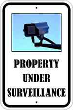 "PROPERTY UNDER SURVEILLANCE PARKING ONLY SIGN QUALITY ALUMINUM SIGNS 12"" x 18"""