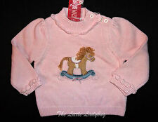 NWT Gymboree LA BELLE EPOQUE Pink HORSE Sweater Girls Size 12-18 Months