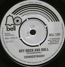 "SHOWADDYWADDY hey rock and roll/will you lose your love tomorrow 7"" WS EX/"