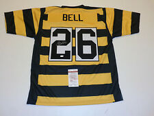 LE'VEON BELL autographed signed Steelers bumble bee Jersey JSA Witness WP150242