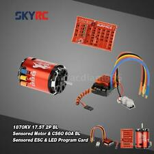 SkyRC 1870KV 17.5T 2P Motor & CS60 60A ESC & LED Program Card Combo Set E6JW