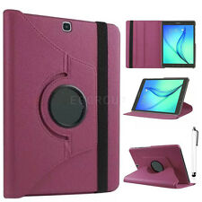 """360 Rotating Smart Leather Case For Samsung Tablet Tab S2 8"""" 9.7"""" Tab E 8"""" 9.6"""""""