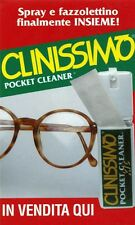 ADESIVO/STICKER * CLINISSIMO Pocket Cleaner - Spray e fazzolettino . . .