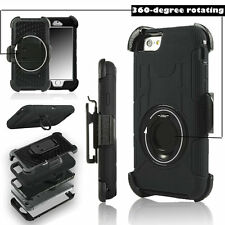 Apple iPhone 5 / 5S / 5SE - Heavy Duty Shockproof Hybrid Stand Clip Holster Case