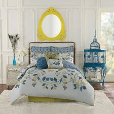 Anthology Bloomsbury : Twin Comforter Set : Girls Shabby Chic : Branches Leaves
