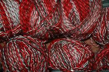 Nuevo 2 X 100g de Lujo Rojo Negro Blanco tejer hilado de lana de Ganchillo Gorro Bufanda Guantes