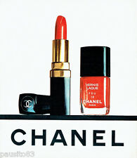 PUBLICITE ADVERTISING 036  1977  Chanel  maquillage vernis rouge lèvres Feu 19