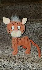 """Vtg Japan Treasure Pet Circle Importers RARE Tiger 1960s Plush Stuffed Toy 8"""""""