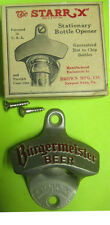 BURGERMEISTER Wall Mount Stationary Metal Beer BOTTLE OPENER San Fran CALIFORNIA