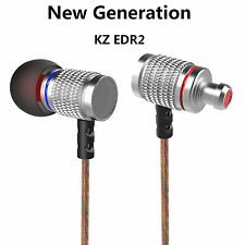 Cuffie Premium kz-ed2 ARGENTO Professional in-ear PU Custodia robusta FULL BASS BEATS