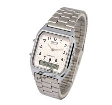 -Casio AQ230A-7B Dual Time Watch Brand New & 100% Authentic