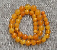 43,3 gr Genuine natural baltic amber round beads necklace egg yolk butterscotch