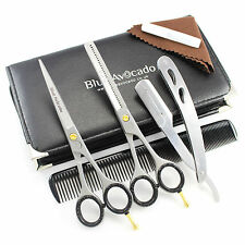 "Professional Barber Hairdressing Scissor Thinning & Hair Cutting Set 6""+ Razor"