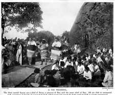 1913 Wedding In Fiji Chief Of Rewa, A Princess Of Bau, With Great Chief Ceremoni
