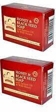 "TWIN PACK of Nubian Heritage Bar-""Honey& Black Seed -5oz Soaps/Shea Butter"