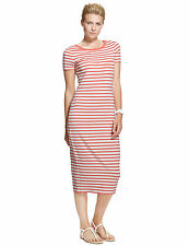 Marks and Spencer M&S Striped Summer Round Neck Maxi Dress sz 16 18 20 BNWT