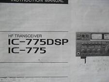 Icom-775dsp (Genuino Manual de instrucciones sólo).......... radio_trader_ireland.