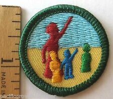 Girl Scout 2002-11 Junior NOW & THEN WORLD STORIES BADGE History Cultures Patch