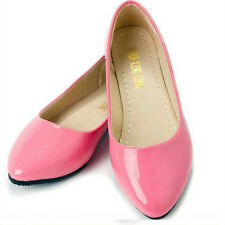 Candy Colors Women's Ballet Flat Casual Patent PU Leather Dolly Pumps Shoes Size