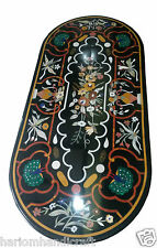 """Size 30""""x60"""" Marble Dining Table Top Inlay Pietradure Peacock Art Decor H948A"""