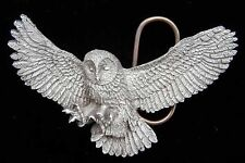 ATTACKING OWL 3D BELT BUCKLE VERY COOL! BUCKLES
