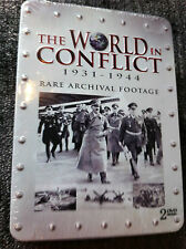 THE WORLD IN CONFLICT 1931-1944  - DVD Region All - 2 Discs - Tin Box -