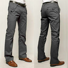 New City Mens Casual Chinos Cotton Trousers Fit Straight Leg Pants Size 29-36